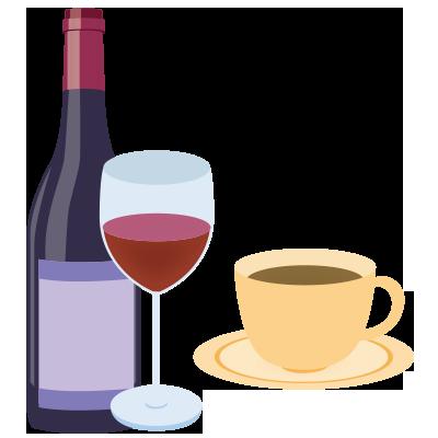 コーヒーや赤ワインが好き